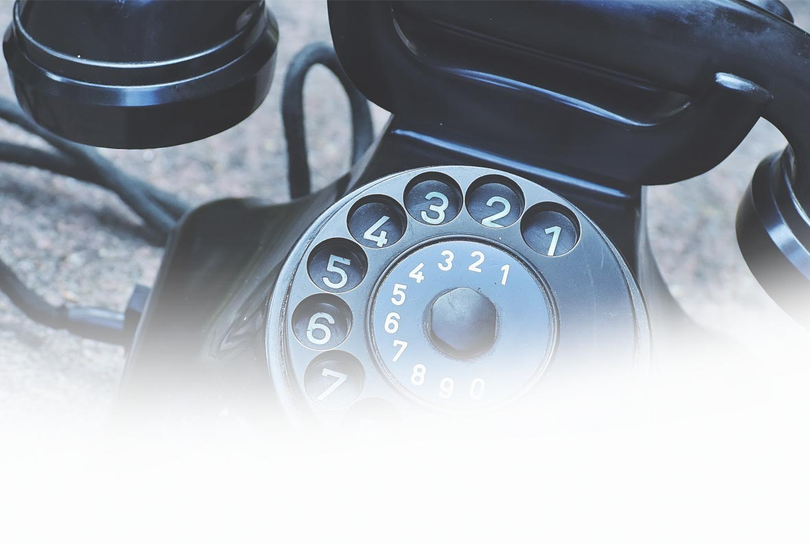 Old style phone - contact for Charity Facebook ads
